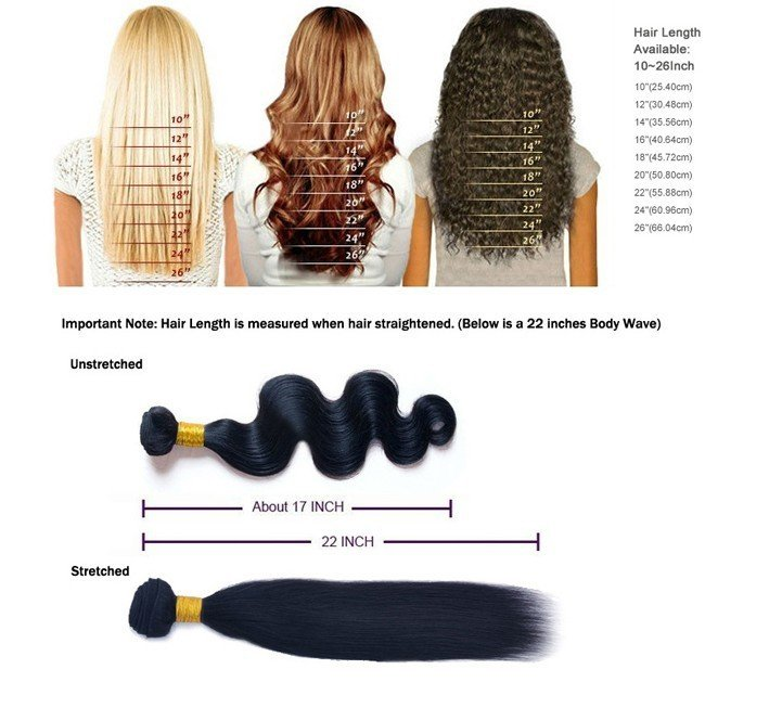 Brazilian 100 Virgin 18 Inch Hair Extension