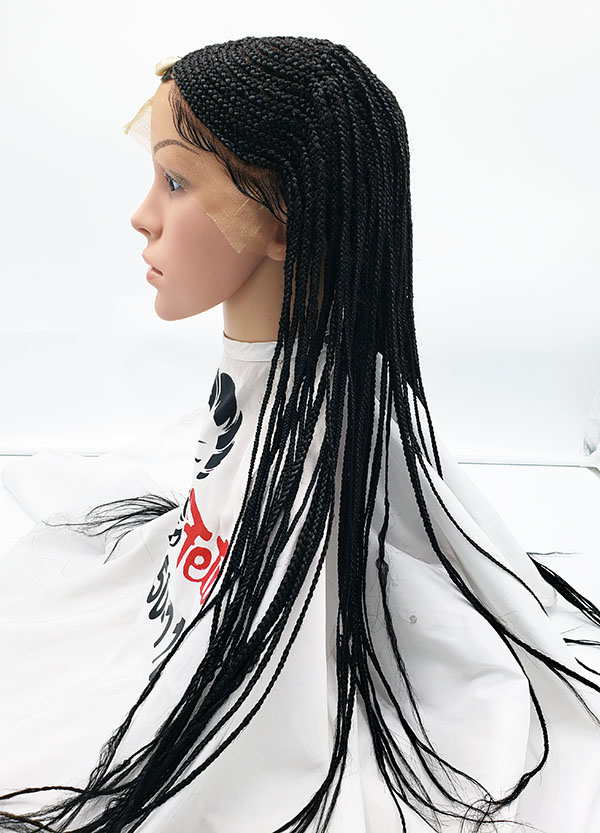 Tribal Braided Full Lace Wig with baby hair